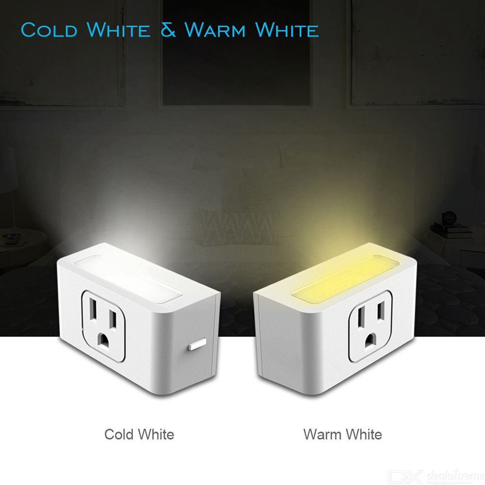 Smart Plug Wifi Mini Outlet Wireless Control Smart Socket With Timer Nightlight For Amazon Alexa -US Plug