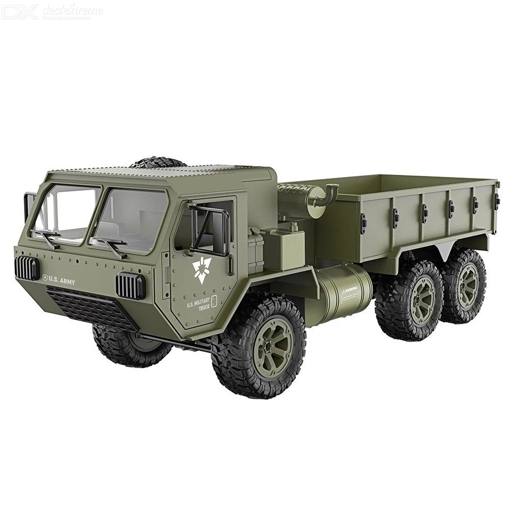 FSK 1/12 RC 6WD 2.4GHz RC Military Truck Off-road Vehicle RTR Car Gift for Adults Kids Boys
