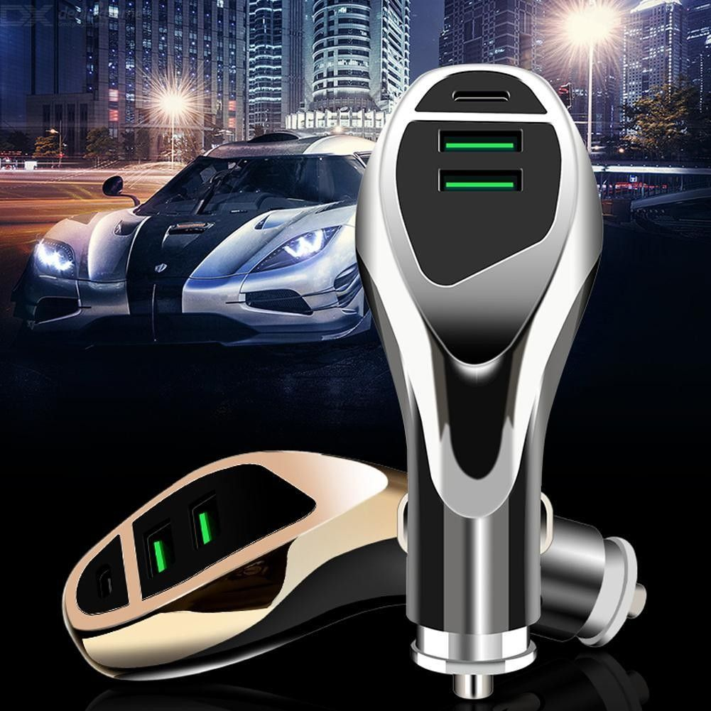48W USB Type-C Car Mobile Phone Quick Charger For iPhone / Xiaomi / Huawei