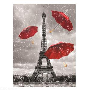 Eiffel Tower Red Umbrella Poster Wall Art Pictures Painting Prints Unframed for Living Room Bedroom Wall Decor
