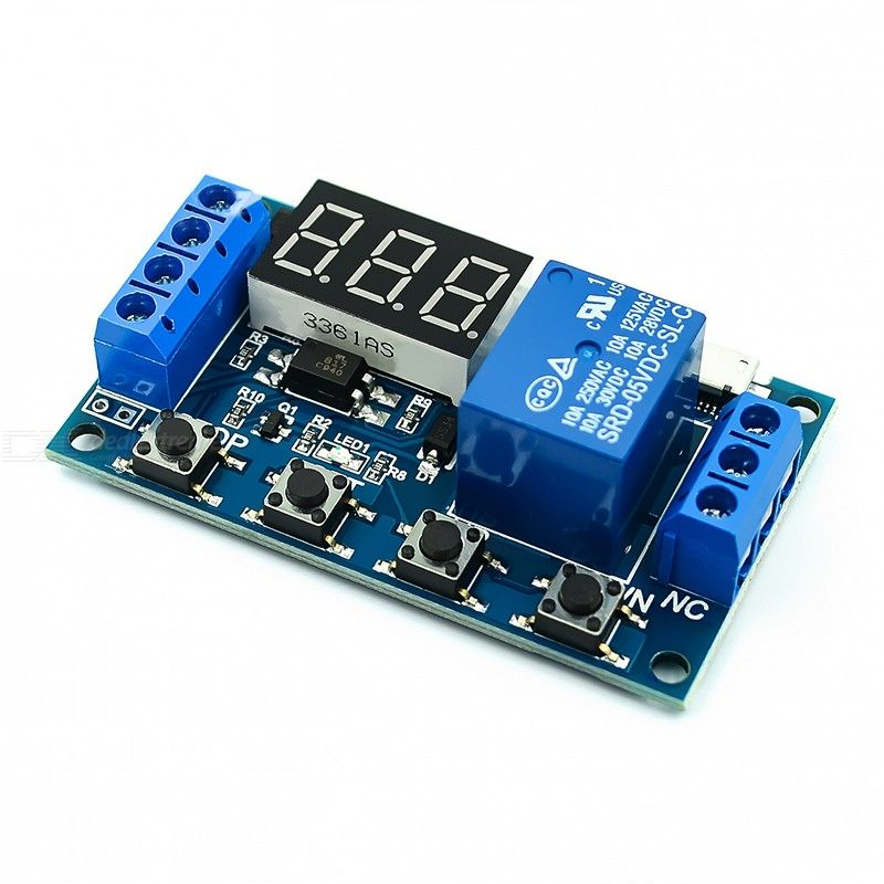 1 Channel Relay Module Delayed Power off Disconnected Trigger Delay Cyclic Timing Circuit Switch