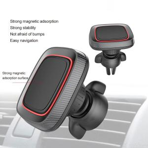 Car Phone Holder Universal Magnetic Air Vent Phone Clamp With Rotatable Range