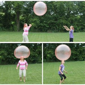 Beach Bubble Ball Transparent Bubble Balloon Water Air Filling Bubble Balls Toy Inflatable Bouncy Balloon For Kids Adults, 40CM