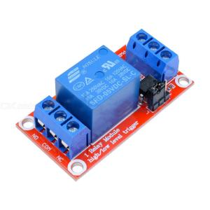 1 Channel Relay Module DC 5V High/Low Level Trigger Relay Control With Optocoupler Red