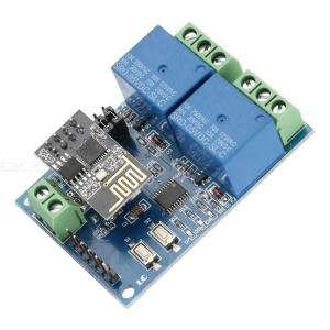 5V ESP8266 Dual Channel WiFi Relay Module IOT Smart Home Phone APP Remote Switch