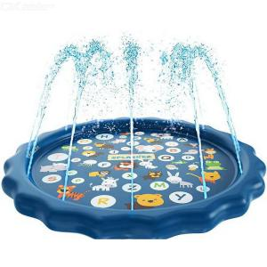 Water Sprinkler Pad For Kids Summer Outdoor Water Toys Wading Pool Splash Play Mat For Toddlers Baby Children Boys Girls
