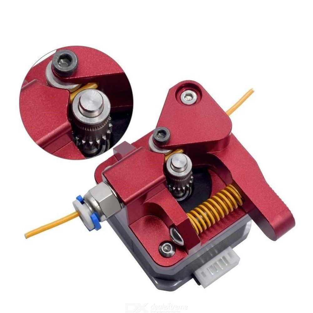 Cr10 Aluminum Upgrade Dual Gear Mk8 Metal Extruder Kit for CR-10S PRO Ender-3 Btech 3d Printer Feed Double Pulley Extruder