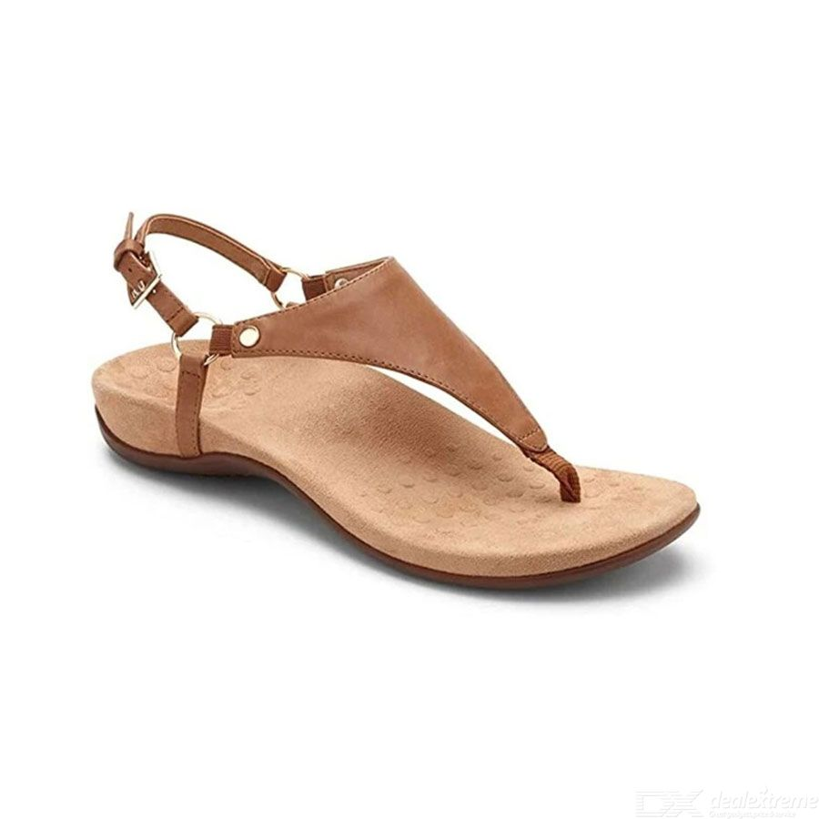 Womens Adjustable Back T-Strap Flat Sandals (8 Colors Available)