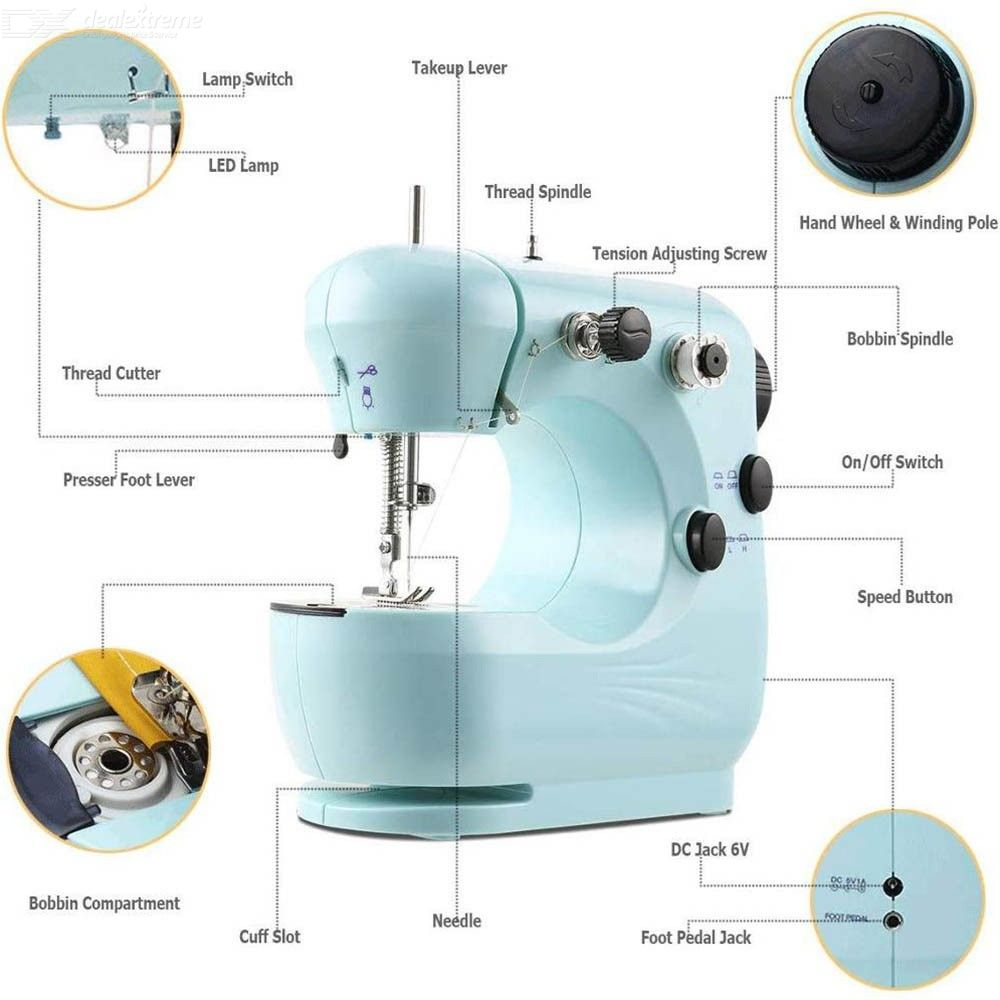 Electric Sewing Machine Household Embroidery Stitching Heavy Duty Quilting Machine with Foot Pedal Household Sewing Tools