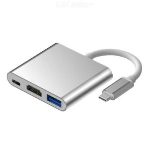 USB-C to HDMI Converter Aluminum Alloy Type-C Adapter For Apple Macbook