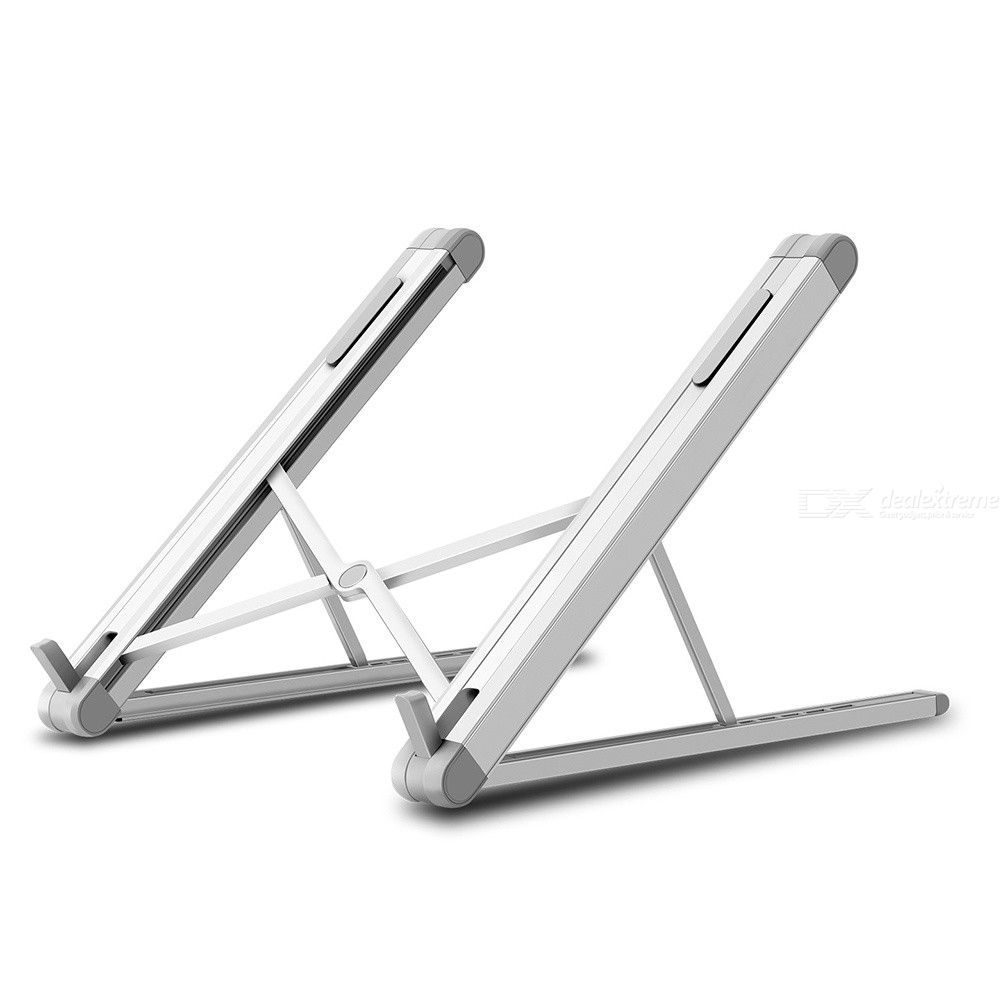 Laptop Stand Height-and-Angle Adjustable Cooling Ventilated Laptop Riser Holder Foldable Portable Aluminum Alloy Notebook Mount