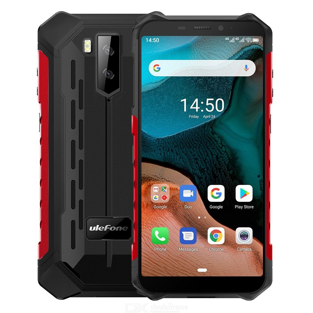 Ulefone Armor X5 MT6762 5.5 Inch Rugged Phone 3GB RAM 32GB ROM Android 10.0 IP68 Waterproof 5000mAh Battery Global Version