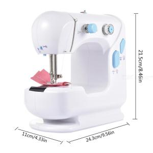 306 Mini Electric Sewing Machine with Extension Board LED Light Multifunctional Sewing Machine for Home Use