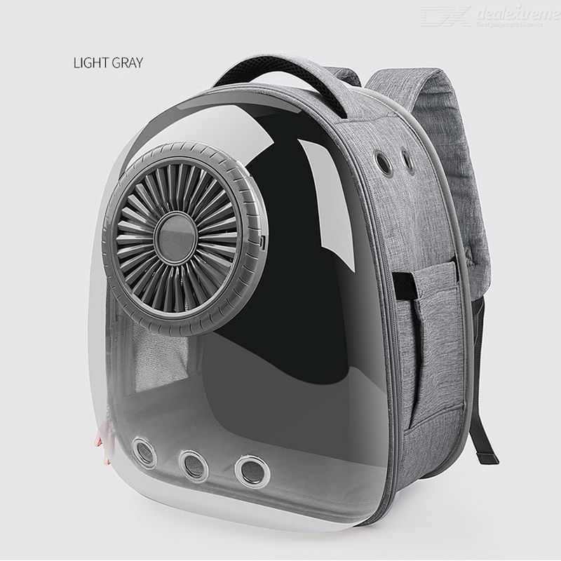 Transparent | Backpack | Capsule | Carrier | Outdoor | Travel | Cool | Fan | Dog | Cat | Use