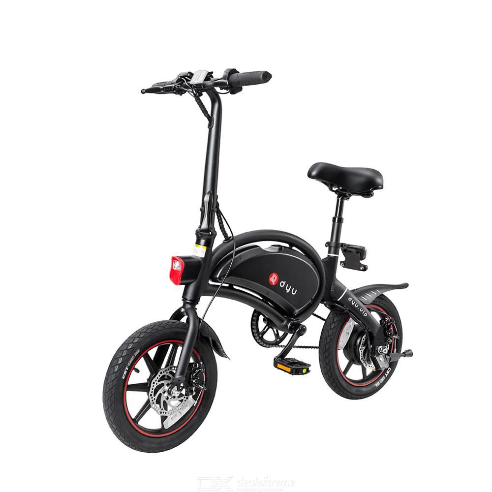 DYU D3 Plus Smart Electric Bike w/ 50km Mileage and Dual Disc-brake