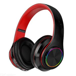 Wireless Headset Over-Ear Headphones With Heavy Bass 8D Surround Sound HiFi LED Backlit