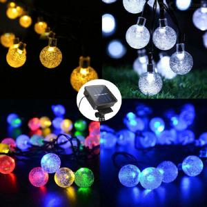 Garden Solar String Lights 100 LED Crystal Ball Decorative Lights 39ft Waterproof Outdoor Fairy Lights for Patio Yard Christmas
