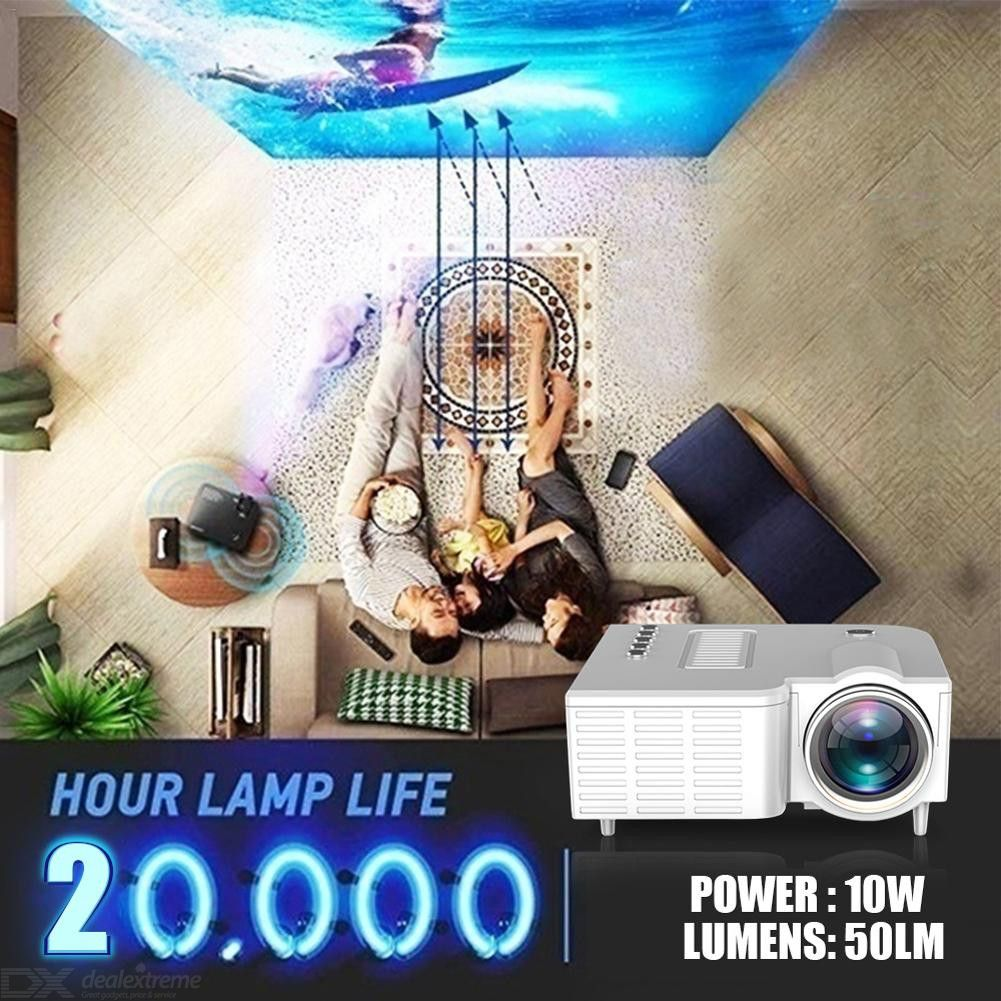 UC28C Mini Projector Portable Video Projector Home Theater Movie Projector with Built-in Speaker