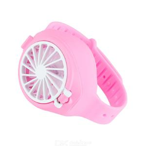 Cool Summer Mini Cooling Watch Fan Handheld Fan USB Chargeable Fashion Small Wrist Mute Fan For Indoors Or Outdoors Traveling