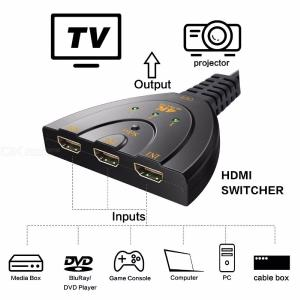 HD 3-ports HDMI Switch 3 in 1 out 4K  2K HDMI switcher