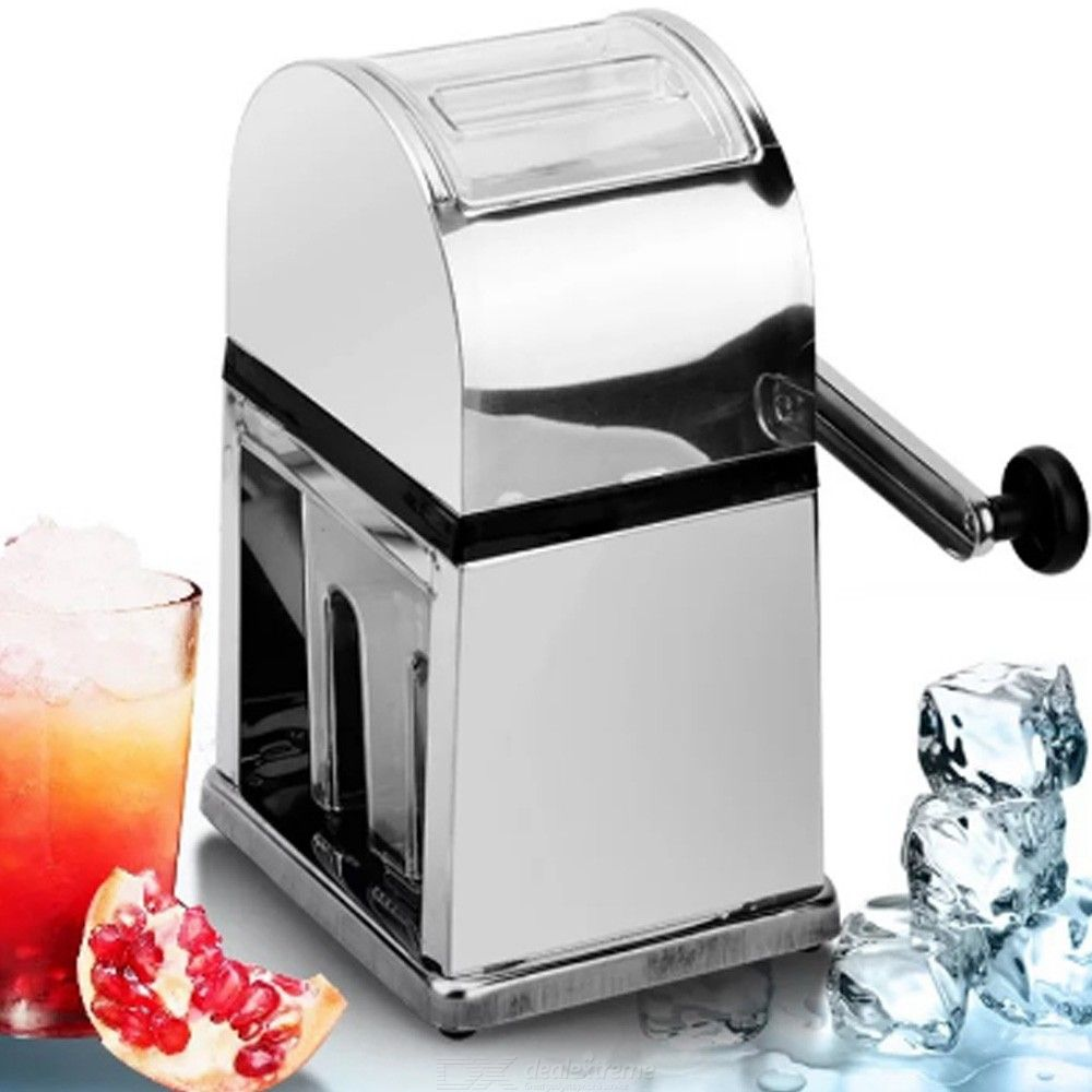 Stainless Steel Manual Ice Crusher Mini Ice shaver Chopper Manual Snow Cone Smoothie Maker Ice Block Breaking slush Machine
