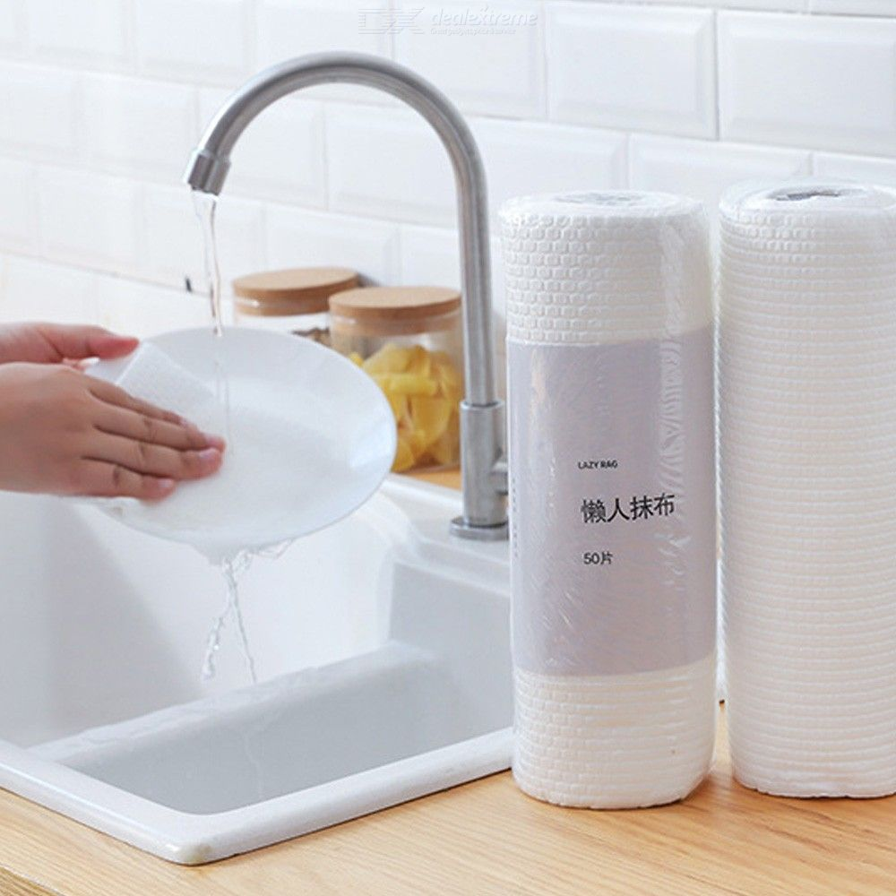 50 Pieces of Disposable non-woven Absorbent lazy Rag non-oily kitchen Cleaning Table Washing Cloth