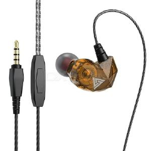 QKZ AK2 3.5mm In-ear Headphones Wired Stereo Enhanced Bass Music Sports Earphone With Microphone
