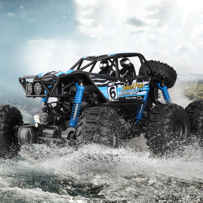 Amphibious1:8 RC Crawler 6WD 10KM/H High Speed 2.4G Remote Control Off Road Rock Monster Truck 48.5x30.5cm