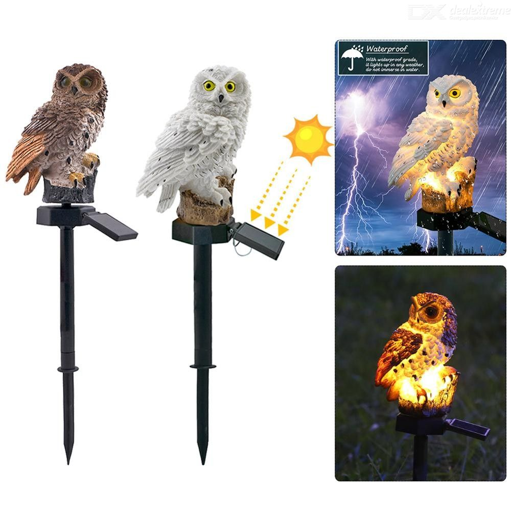 DH Outdoor Garden LED Light Owl Solar Lawn Light IP65 Waterproof Garden Decoration Landscape Light