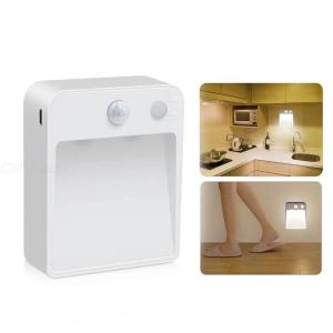 Motion Sensor Wall Lamp Battery-Operated LED Night Light For Bedroom Bathroom Hallway Corridor Wardrobe