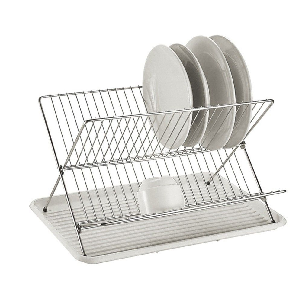 Dealextreme / New Folding X Shape Kitchen Organizer Pot Lid Rack Stainless Steel Spoon Holder Dish Rack Pan Cover Stand Kitchen Accessories
