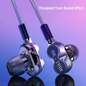 D10 In-ear HIFI Stereo Sound Headset Double Moving Coil Earphones