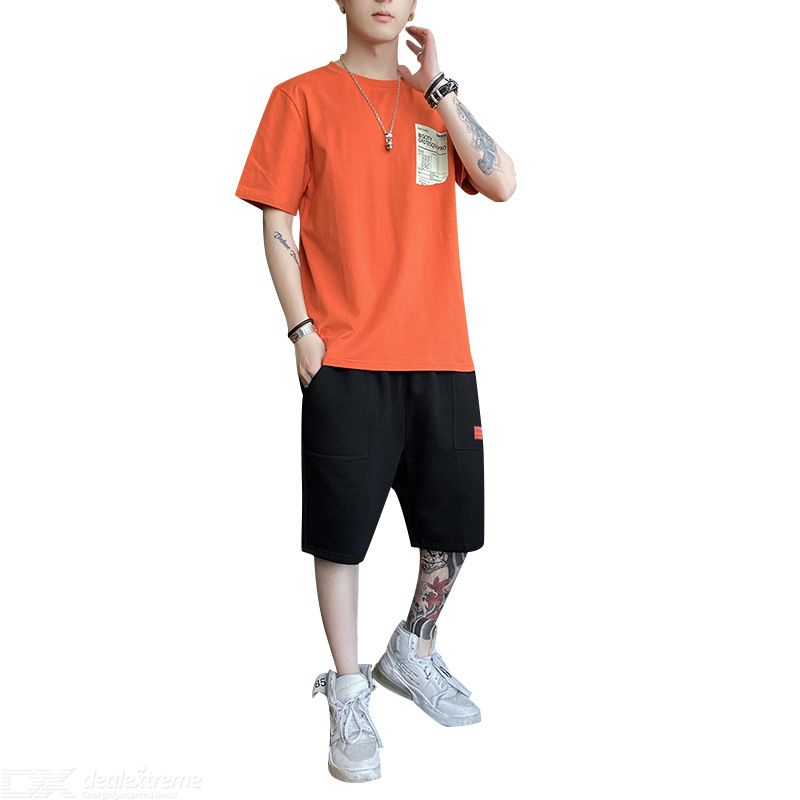 Fashion Summer Mens Set Casual Two Piece Set