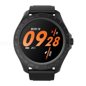 Bluetooth Smart Watch Temperature Heart Rate Monitor 300mAH Battery IP68 Waterproof For Android