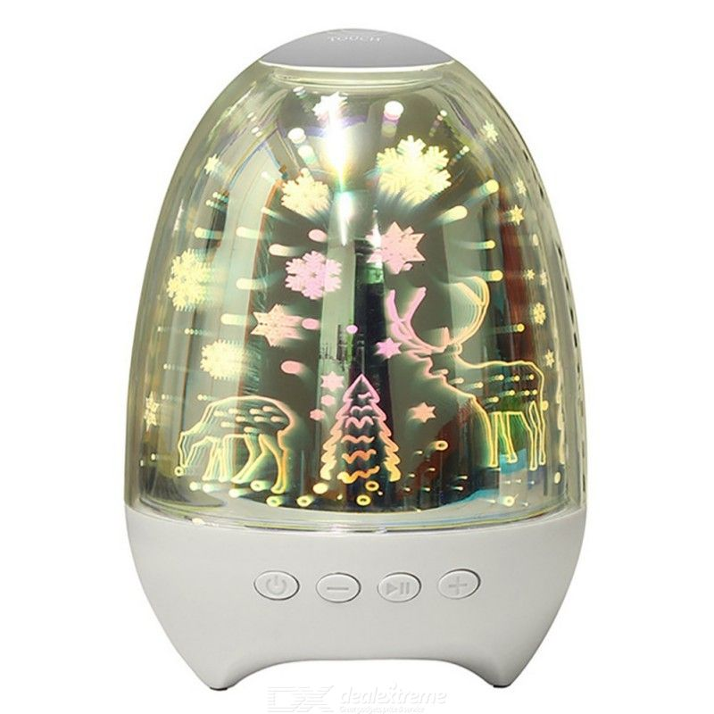Creative Desktop Bluetooth Speaker with LED Colorful Lamp for Home
