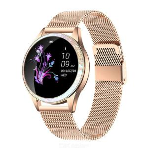 KW20 Smart Bluetooth Watch Women Full Round Screen IP68 Waterproof Smartwatch For IOS Android