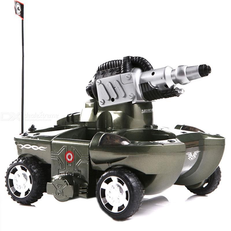 RC Tank Waterprooof Remote Control Amphibious Tank With 360 Degree Spins For Land Water