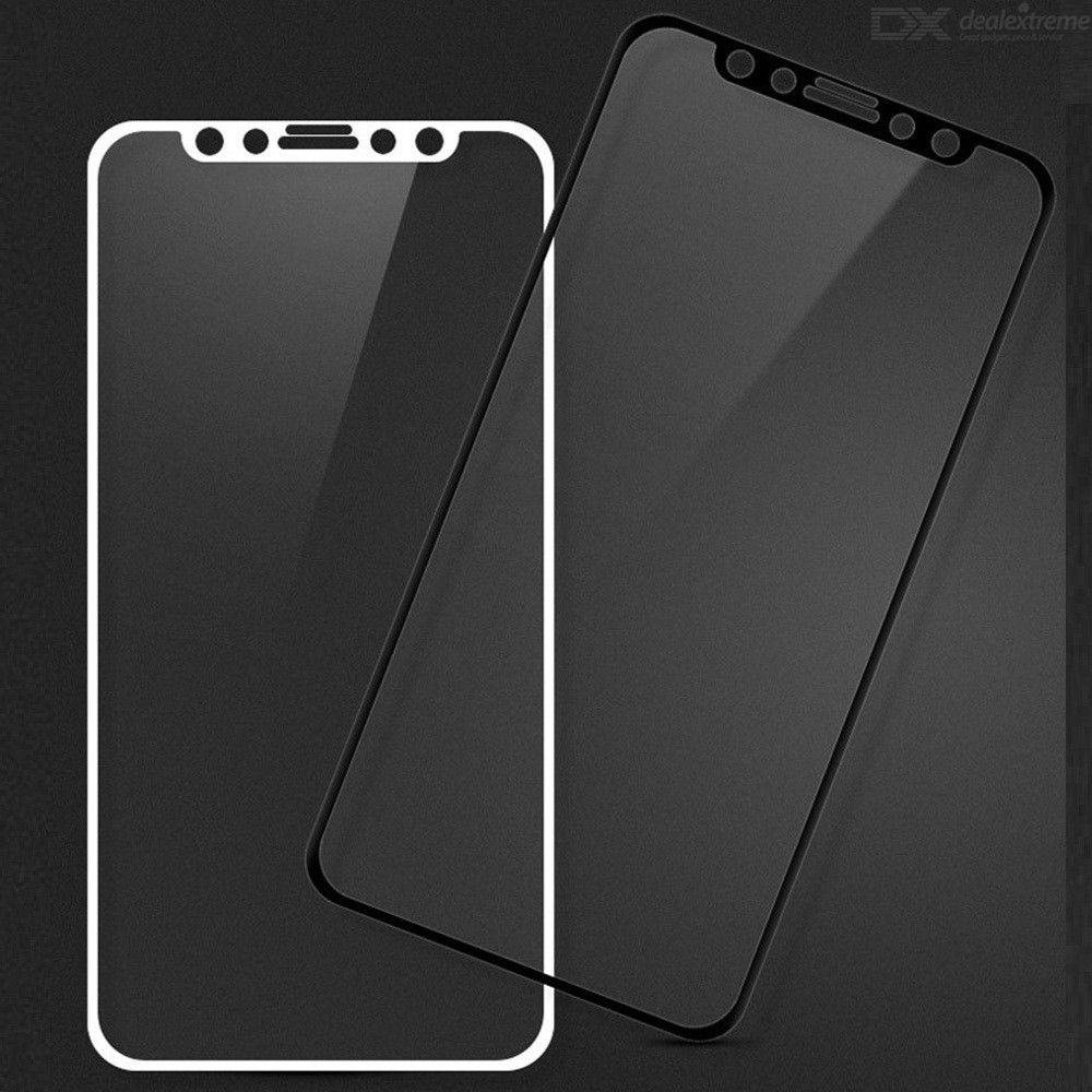 SZKINSTON 5D 9H Silk Printed Nano Anti-fingerprint Screen Protector Full Tempered Glass Film for iPhone 11 Pro Max / XS Max