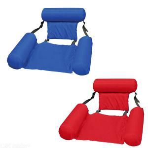 Inflatable Belt Net Air Mattresses Foldable Water Floating Lounge Chair