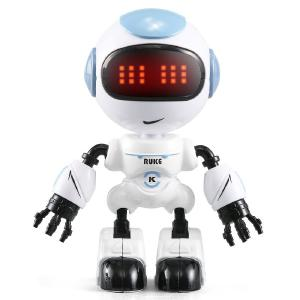 R8 RC Robot Desktop Mini Remote Control Interactive Robotics With Light Sound Effects And Phone Holder