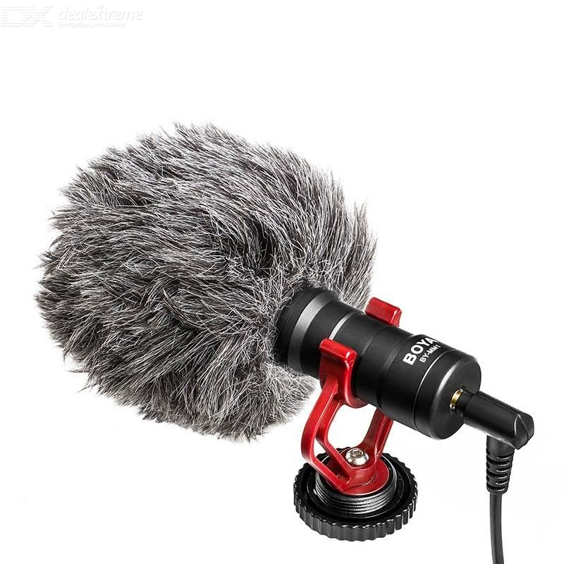 Portable Condensor Microphone Plug-and-Play Cardioid Mic For IPHONE Android Phones Cameras
