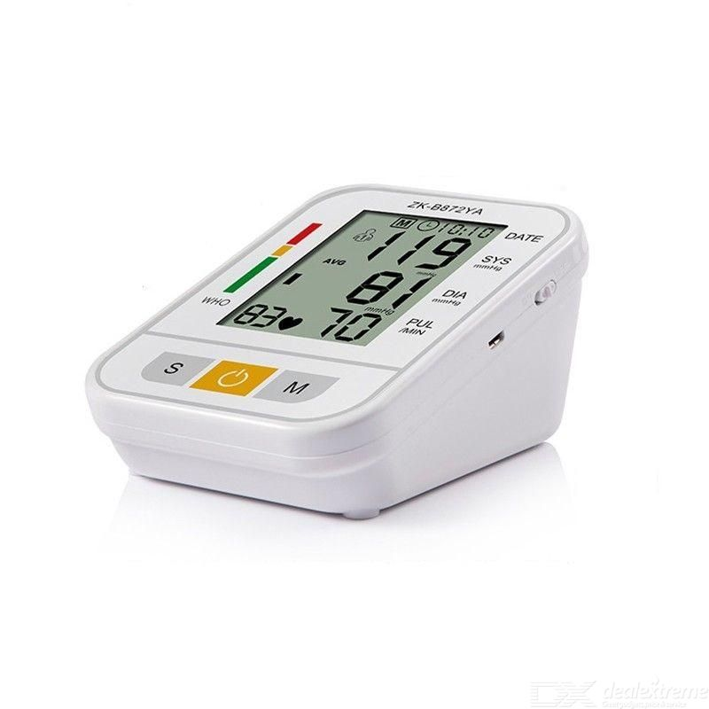 Arm Blood Pressure Monitor Automatic BP Meter with Large Display Voice Broadcast