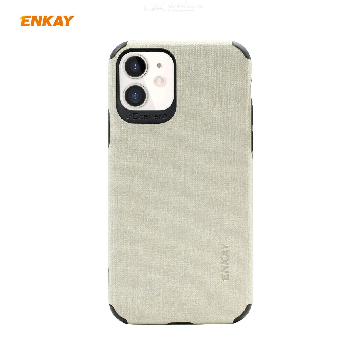 ENKAY Hat-Prince PU + TPU Cotton Linen Pattern Back Cover Soft Phone Case For iPhone 11