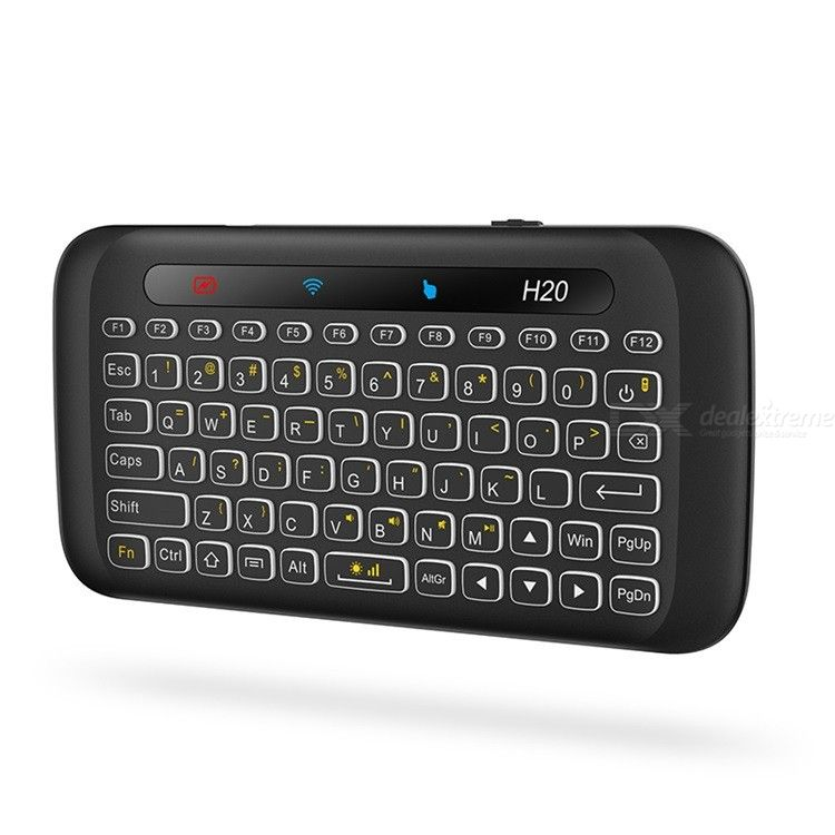 H20 3-in-1 Wireless Keyboard Touch Pad Air Remote Control for Set Top Box TV Projector