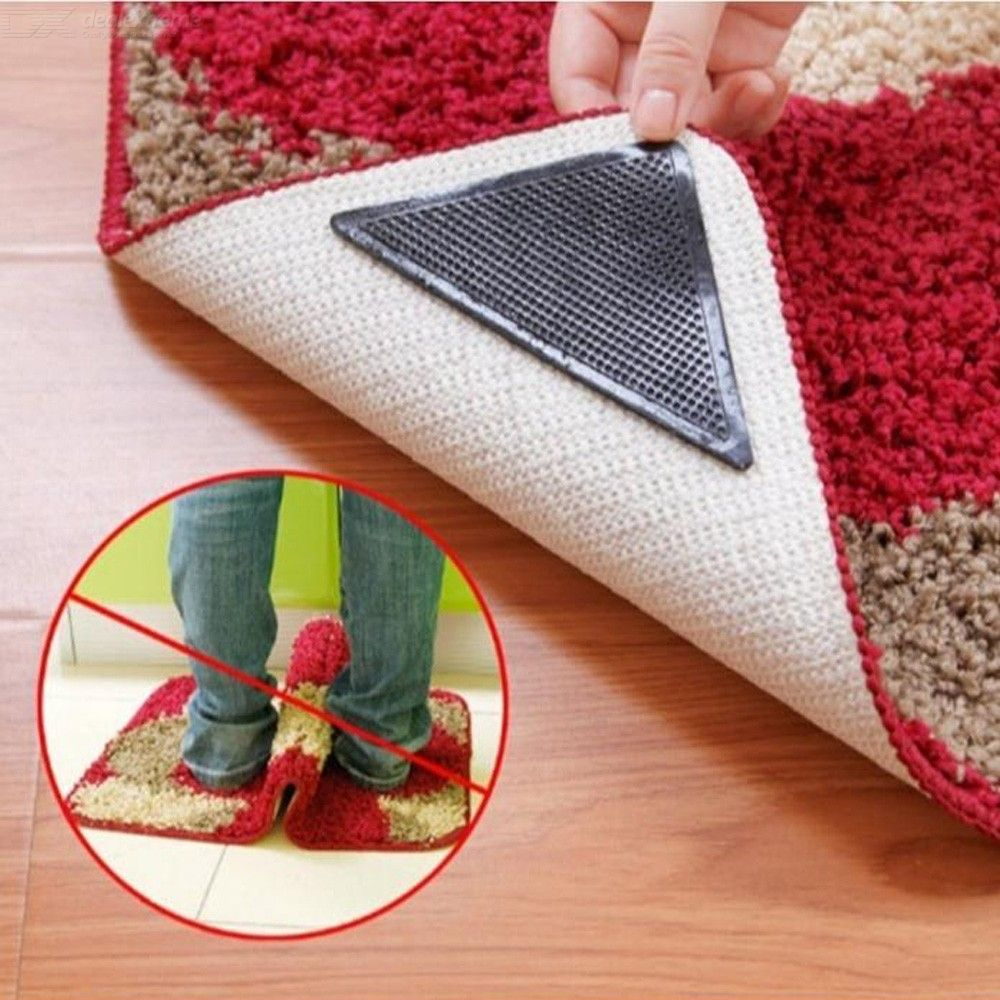 Dealextreme / 4Pcs/set Floor Carpet Mat Gripper Non-Slip Pads Fixer for Bathroom Kitchen