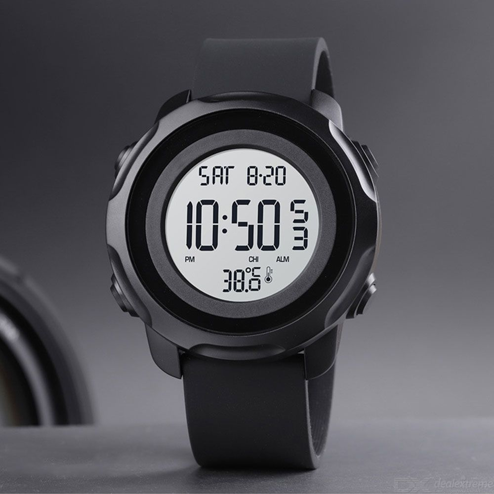 SKMEI Digital Watch Multifunctional Sports Wristwatch With Real-Time Thermometer Stopwatch