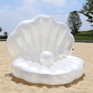 Inflatable Pool Lounge Classic Seashell Pool Floats With Head Rest