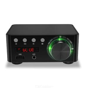 50W X 2 Bluetooth 5.0 HIFI Digital Power Amplifier TPA3116 Receiver Stereo Home Car Audio Amp USB U-disk TF Music Card Player