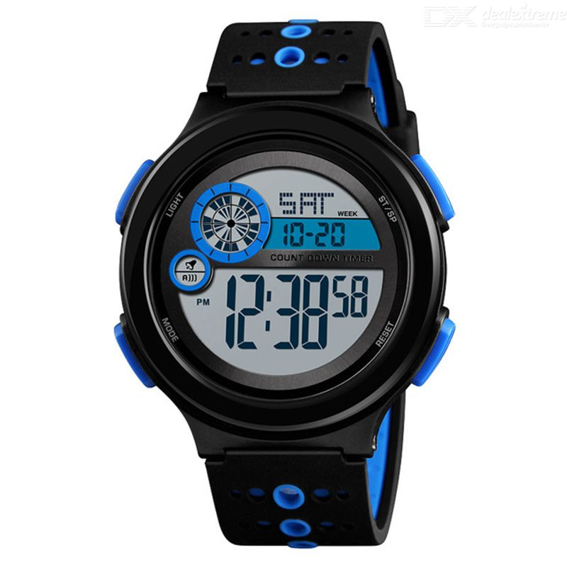 SKMEI Men Outdoor Sports Watch Luminous Week Display Stopwatch Display Chronograph Relogio Masculino 50M Waterproof Watches 137