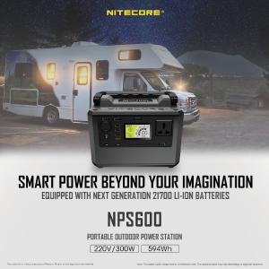 NITECORE NPS600 portable outdoor power station 220V 300W 165000MAH